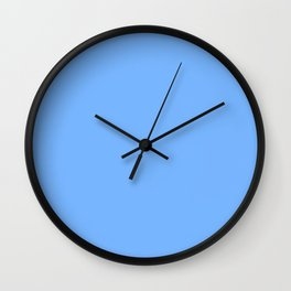 French Sky Blue - solid color Wall Clock
