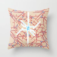 technology Throw Pillows featuring technology by daniel