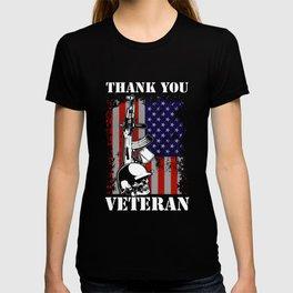 Thank You Veterans American Flag Patriotic T-shirt