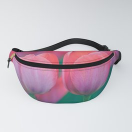 Glowing Pink Tulips Fanny Pack