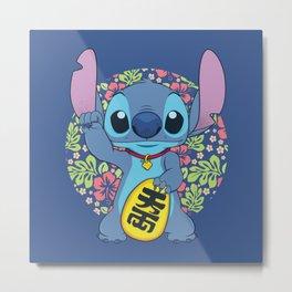 Maneki Stitch Metal Print