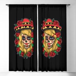 La Calavera Catrina Linda - Lady of the Dead Blackout Curtain