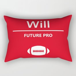 Will Future Pro - Red and White Rectangular Pillow