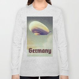 Germany Blimp vacation poster Long Sleeve T-shirt