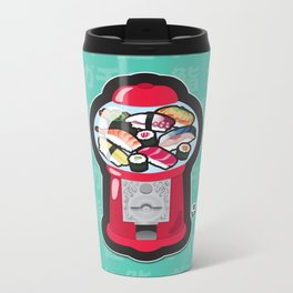Gumball Sushi   ガチャ ガチャ 鮨 Metal Travel Mug