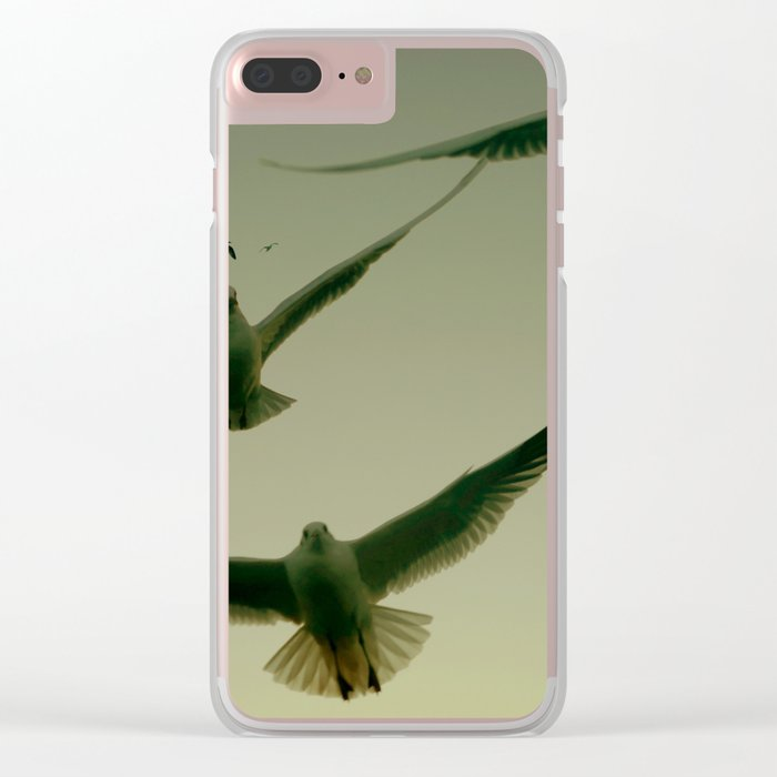 Green Hitchcock Clear iPhone Case
