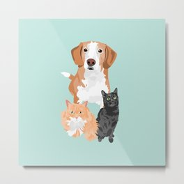 Henry Margot and Sushi Metal Print