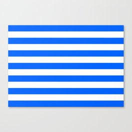 China Blue and White Medium Stripes Canvas Print