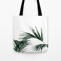 palms Tote Bags featuring Palms by Rachel De Vita