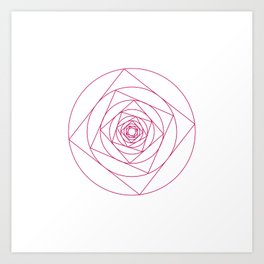 #273 A rose is a rose – Geometry Daily Art Print