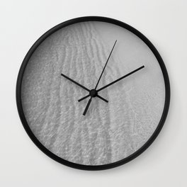 Water (Black and White) Wall Clock