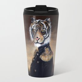 Painting tiger on a throne Travel Mug
