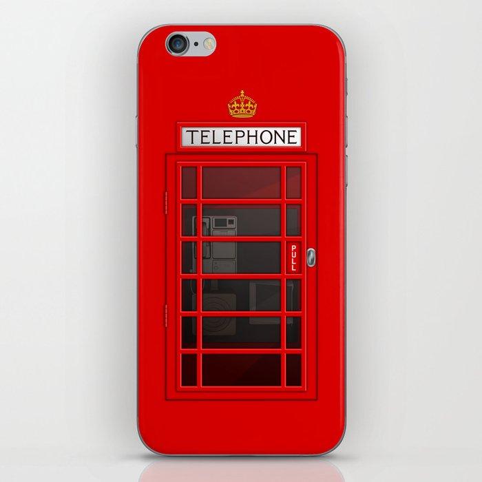 RED TELEPHONE BOX BOOTH PHONE BOX iPhone Skin