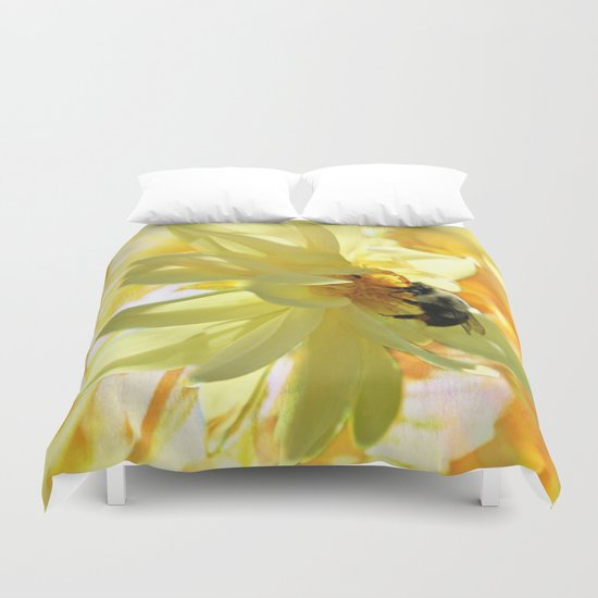 Busy Bumble Bee Duvet Cover