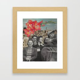 Handmade Collage, soldiers Framed Art Print