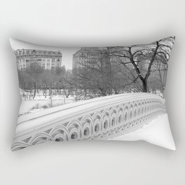 On Bow Bridge, B&W Photography Rectangular Pillow