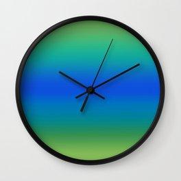 Ocean and Island Gradient Wall Clock