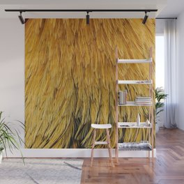 Fancy Rooster Feathers Wall Mural
