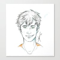percy jackson Canvas Prints featuring Percy Jackson by Yokimosho