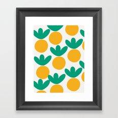 Minimalist Fruit Summer Pattern Framed Art Print