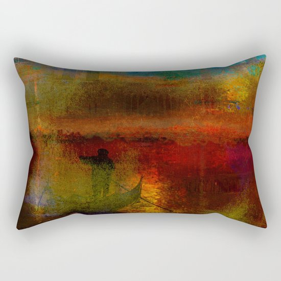 The return of the gondolier Rectangular Pillow