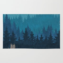 Winter forest Rug