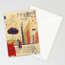 Sydney in Australia Stationery Cards
