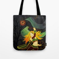 superhero Tote Bags featuring Superhero by Kamiledesigns