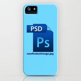 Hilarious image file name design icon  iPhone Case