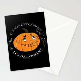 The scared Pumpkin! Halloween Stationery Cards