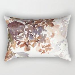 Autumn leaves watercolor art Rectangular Pillow