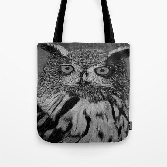 Owl B&W Tote Bag