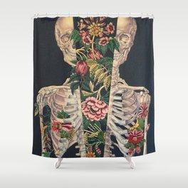 Skeleton of flowers Shower Curtain