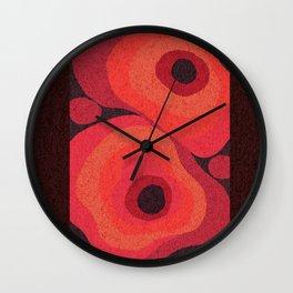 Danish Digital Flower Rug Wall Clock