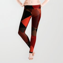 Peekaboo #3: abstract digital art - trendy modern colors from rectangles. Leggings