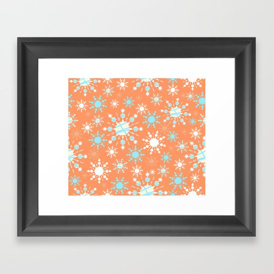 Orange Blizzard Framed Art Print