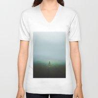 fog V-neck T-shirts featuring Fog by Sara Glezmar