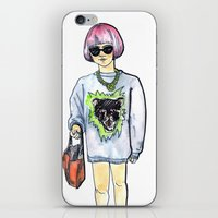 sweater iPhone & iPod Skins featuring Sweater by Juliette Dudley