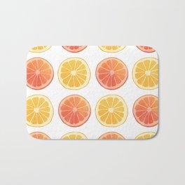Orange Pattern Bath Mat