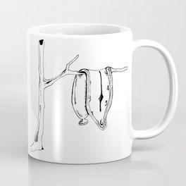 Salvador Dali Melting Clock Illustration, Original (Inktober Day 14:Clock) Coffee Mug