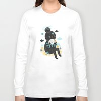 purple Long Sleeve T-shirts featuring We are inseparable! by Muxxi