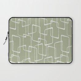 Beryl Green Retro Geometric Pattern Laptop Sleeve