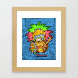Azteca Moderno - Eagle Warrior Munny Framed Art Print