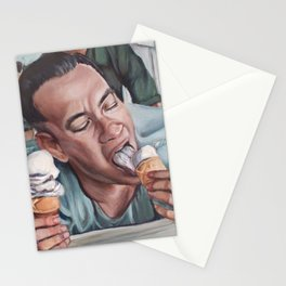 Forrest Gump eats Ice Cream Stationery Cards