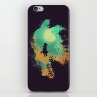 fly iPhone & iPod Skins featuring Leap of Faith by Picomodi