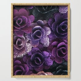 Purple Rose Serving Tray