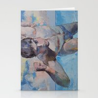 maze runner Stationery Cards featuring Runner by Michael Creese