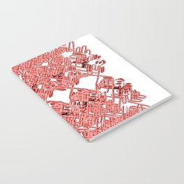 Red Lace Royshay  Notebook