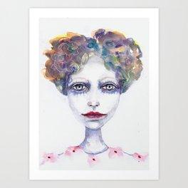 Watercolour Woman Art Print