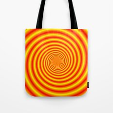 Yellow into Red via Orange Spiral Tote Bag